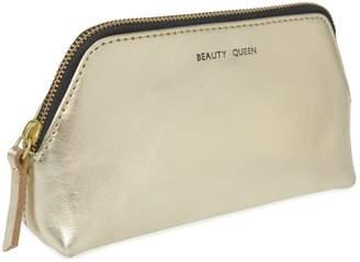 VIDA VIDA - Solar Gold Leather Make-Up Bag