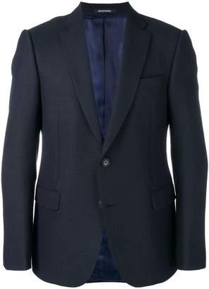 Emporio Armani waffle-knit style suit jacket