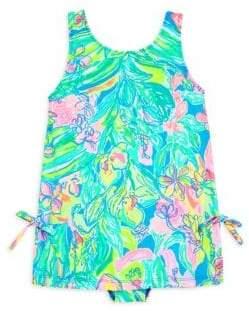 Lilly Pulitzer Toddler's, Little Girl's& Girl's Printed UPF50+ Swim Dress