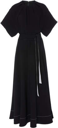 3.1 Phillip Lim Contrast-Detailed Crepe Dress