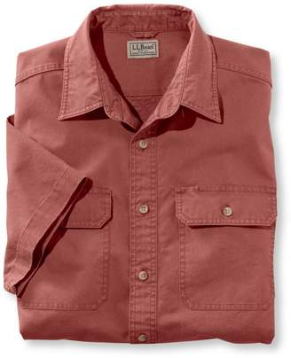 L.L. Bean L.L.Bean Men's Sunwashed Canvas Shirt, Traditional Fit Short-Sleeve
