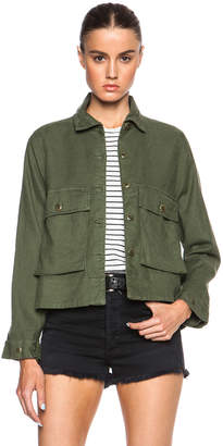 The Great Swingy Army Jacket in Beat Up Army | FWRD