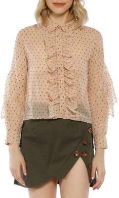 Mckenzie Swiss Dot Button-Down Shirt