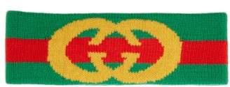 Gucci Logo Wool Headband - Womens - Green