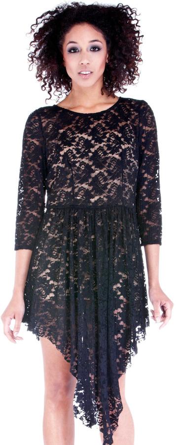 Goldie London Long Sleeve Lace Dress