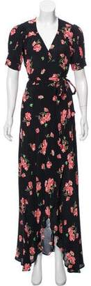 Reformation Floral Print Wrap Dress