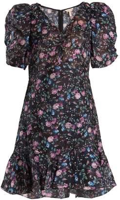 Rebecca Taylor Ruby floral-print silk-blend fil coupé dress