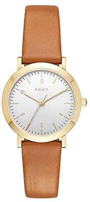 DKNY Women's 'Minetta' Quartz Stainless Steel and Leather Casual Watch