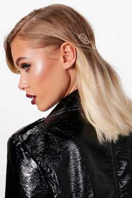 boohoo Jenna Back Detail Floral Head Chain
