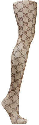 Gucci Intarsia Tights - Brown