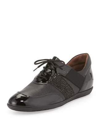 Sesto Meucci Hamid Lace-Up Sneaker, Black $240 thestylecure.com