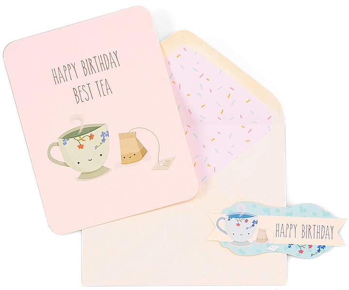 'Happy Birthday Best Tea' Card & Seal Set
