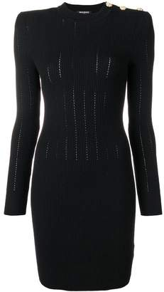 Balmain ribbed-knit dress