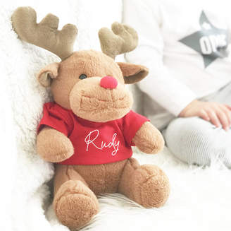Precious Little Plum Rudy The Reindeer First Christmas Soft Toy