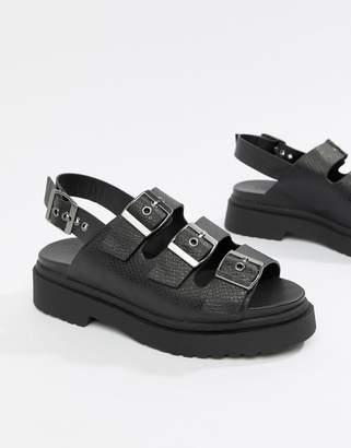 Asos DESIGN Fang chunky sling back flat sandals