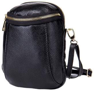 Women Cowhide Leather Crossbody Cell Phone Bag Small Clutch Purse Wallet  with Shoulder Strap by Boshiho 9ed08a89c6de2