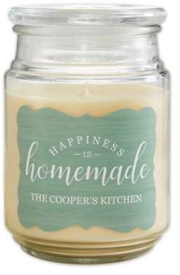 Happiness Is Homemade Scented Glass Candle Jar
