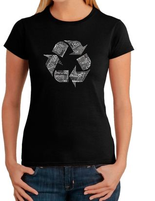 Women's Word Art Recycle T-Shirt in Black $19.99 thestylecure.com