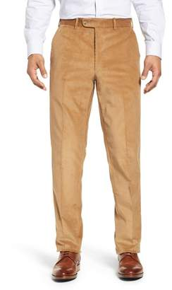 John W. Nordstrom R) Torino Traditional Fit Flat Front Corduroy Trousers