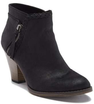 Mia Kori Braided Stacked Block Heel Boot