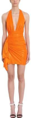 Alexandre Vauthier Crystalized Tangerine Mini Dress