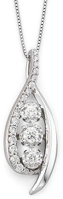 Sirena CT. T.W. Diamond 14K White Gold Pendant Necklace