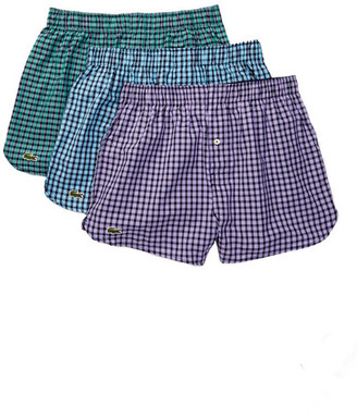 Lacoste Woven Boxer - Pack of 3 $42.50 thestylecure.com
