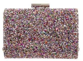 Jimmy Choo Glitter Fabric Mini Tube Clutch