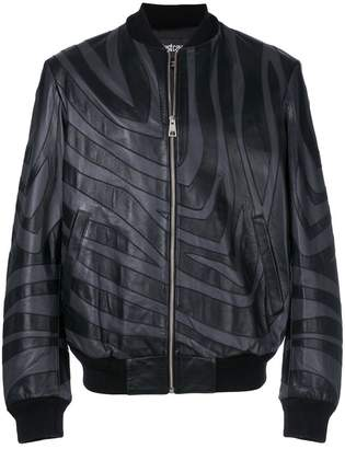 Just Cavalli patterned bomber jacket