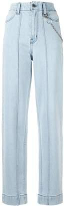 Pony Stone chain link straight-leg jeans
