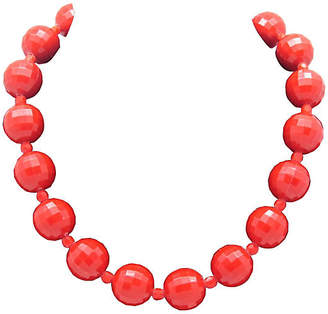 One Kings Lane Vintage Red Faceted Bead Necklace - Thanks for the Memories