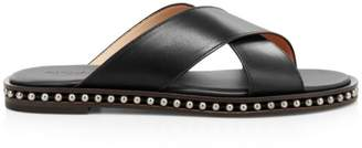 Coach Hailey Studded Leather Slide Sandals