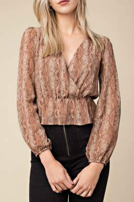 Honeybelle honey belle Python Print Top