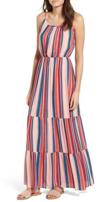 One Clothing Stripe Bar Back Maxi Dress