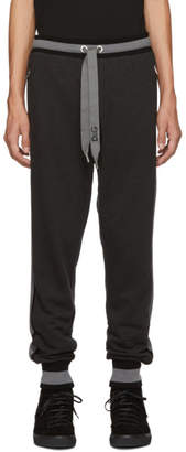 Dolce & Gabbana Black and Grey Striped Lounge Pants