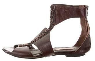 Charlotte Ronson Leather Embellished Sandals