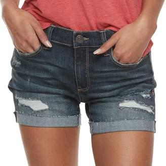 Mudd Juniors' Destructed Cuffed Jean Shorts