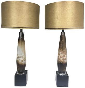 One Kings Lane Vintage Italian Murano Glass Lamps - Set of 2 - Von Meyer Ltd.