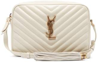 Saint Laurent Lou Quilted Leather Cross Body Bag - Womens - White