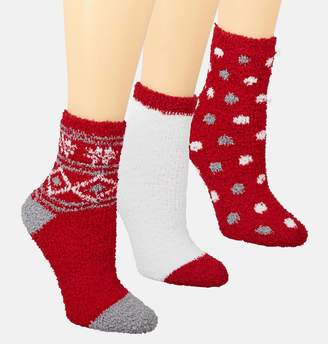 Avenue Red Snowflake Cozy Socks