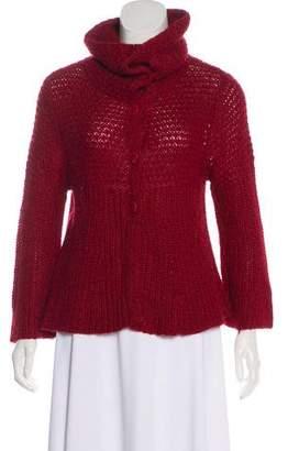 Magaschoni Rib-Knit Long-Sleeve Cardigan