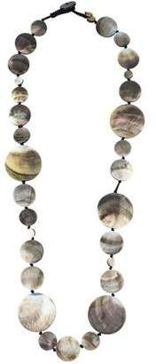 Viktoria Hayman Long Shell Disc Necklace