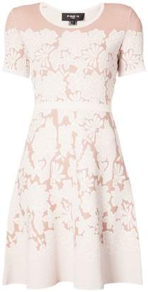 Paule Ka embroidered flared dress