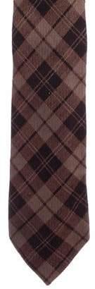 Salvatore Ferragamo Plaid Wool Tie