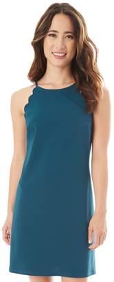Iz Byer Juniors' Solid Scallop Sleeveless Shift Dress