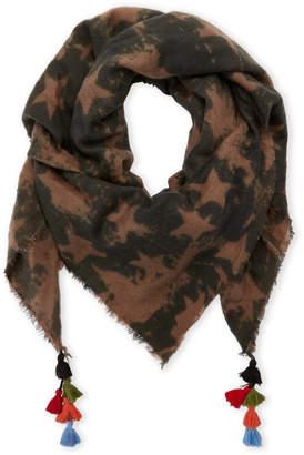 Steve Madden Camo Stars Tassel Blanket Wrap Scarf