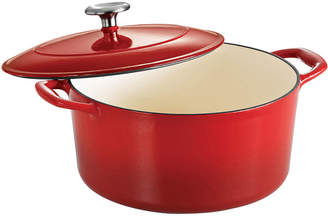 Tramontina Gourmet 5-qt. Enameled Cast Iron Covered Round Dutch Oven