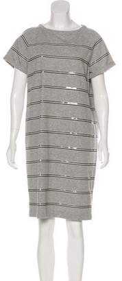 Brunello Cucinelli Sequin-Accented Shirt Dress