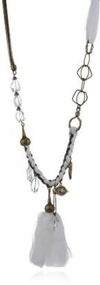 Schmuck-art Longnecky Volzac 30010 Women s Long Necklace 54 CM White Opal