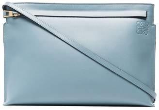 Loewe Blue leather clutch bag